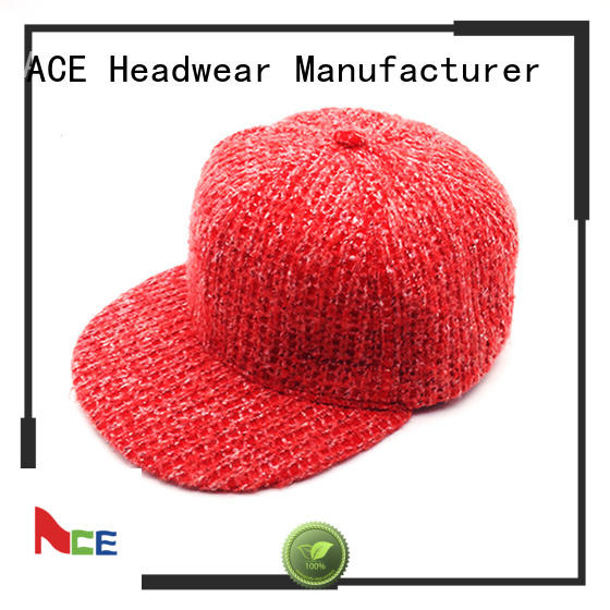 ACE durable white snapback cap supplier for fashion