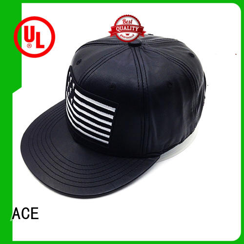 ACE adjustable white snapback hat free sample for fashion