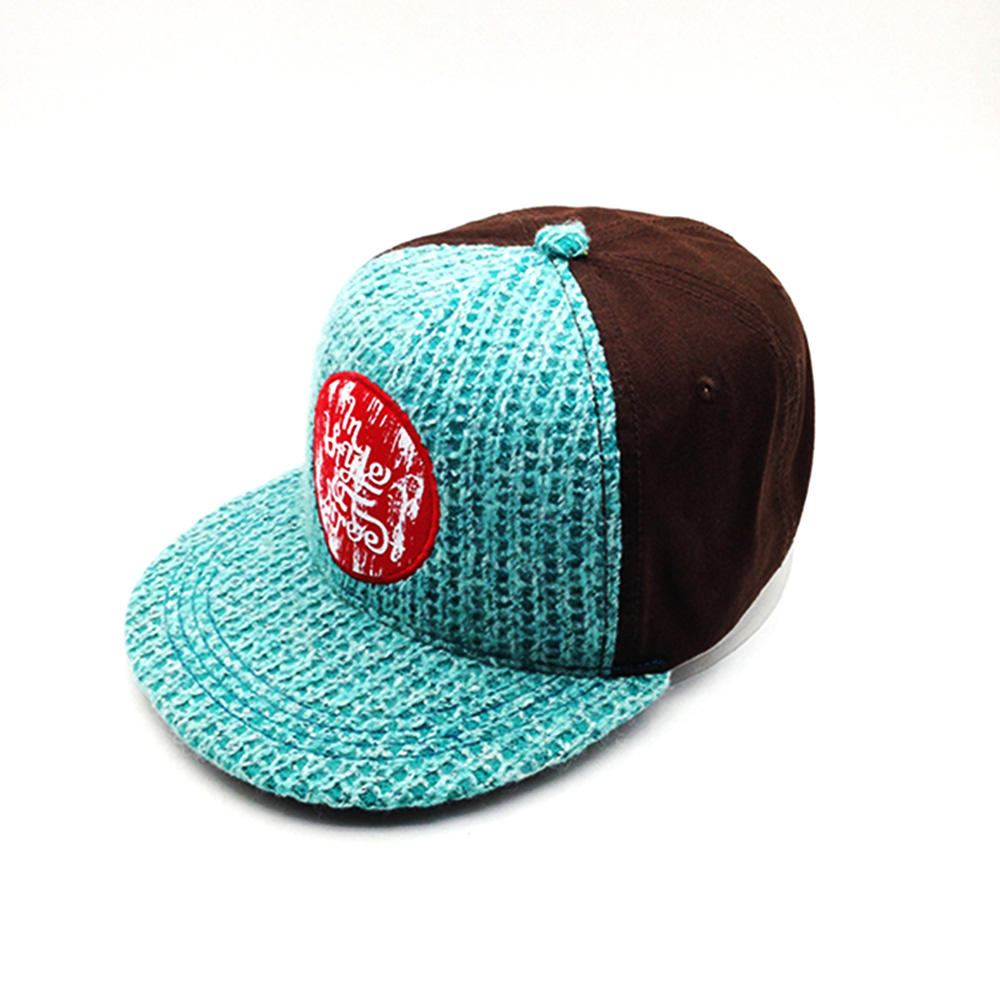 cool snapback hat with wool knitting for man