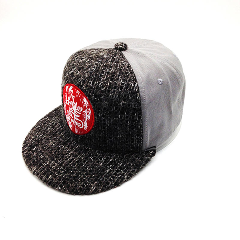 brown snapback hat with wool knitting for unisex