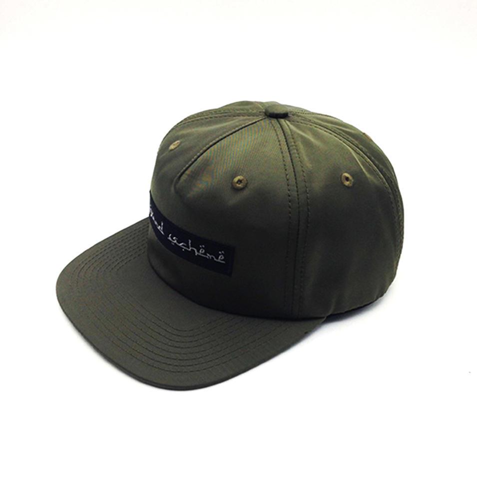 cool snapback hat dark green for man