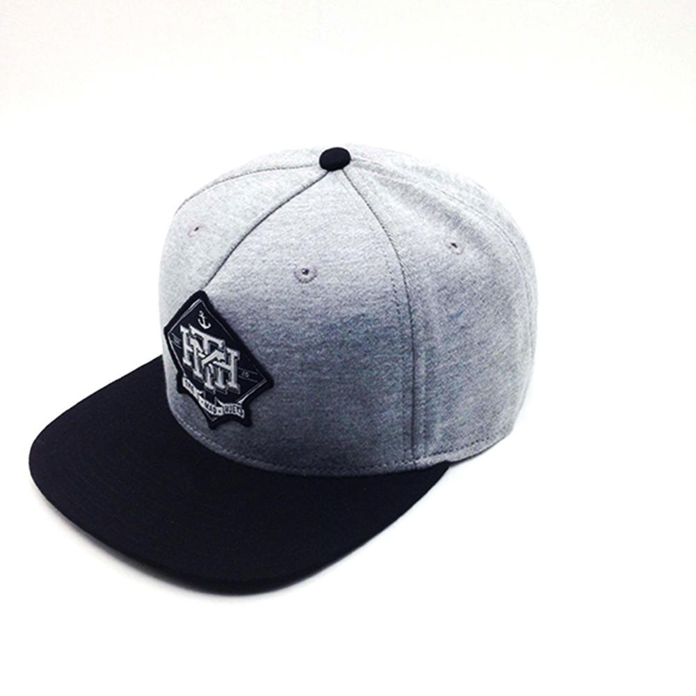 5 panel snapback hat cotton grey for unisex