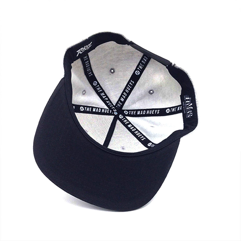 5 panel snapback hat cotton grey for unisex