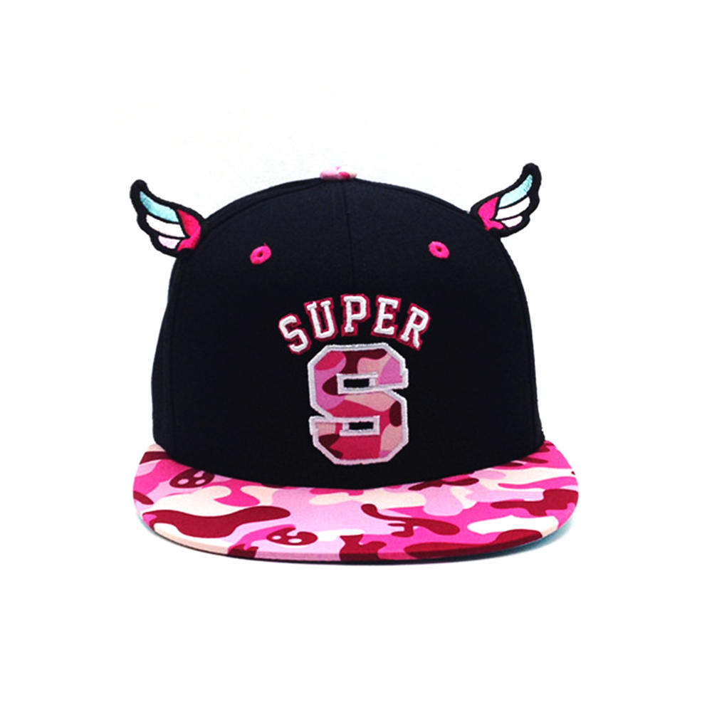 High Quality Sublimation Fabric Wing Hats Snapback Caps for Womens