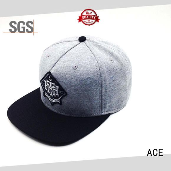 ACE black snapback cap buy now for beauty