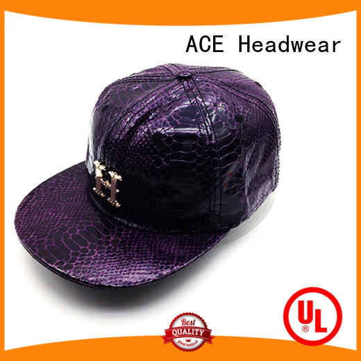 ACE brim snapback hat bulk production for beauty