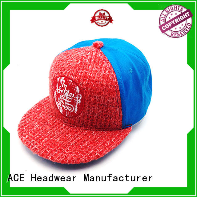 ACE pringting grey snapback hat get quote for beauty