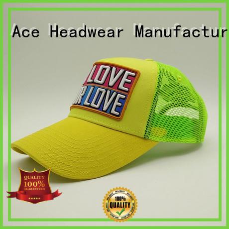 ACE portable classic trucker cap bulk production for beauty