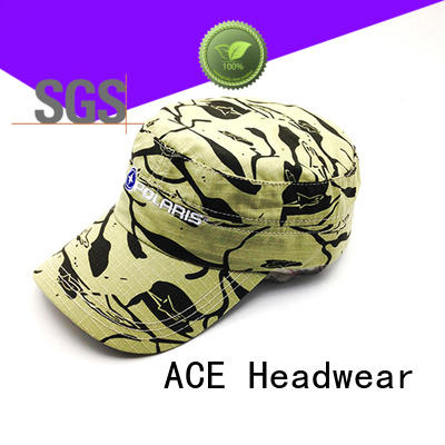 ACE solid mesh types of military caps OEM for fashion