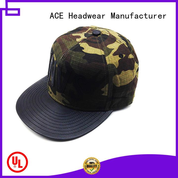 ACE Breathable custom snapback hats bulk production for beauty