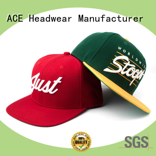 ACE high-quality snapback hat brands ODM for fashion