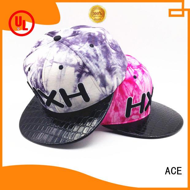 purple snapback hat 3d for beauty ACE