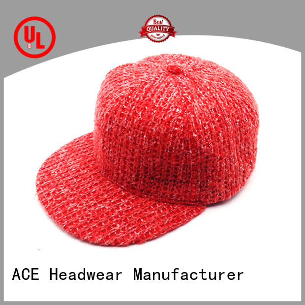 ACE pattern snapback caps for men supplier for beauty