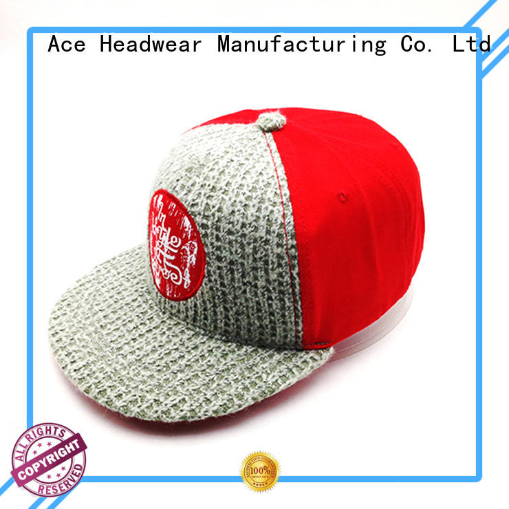 ACE white custom made snapback hats bulk production for beauty