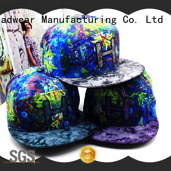 ACE floral cool snapback hats free sample for fashion