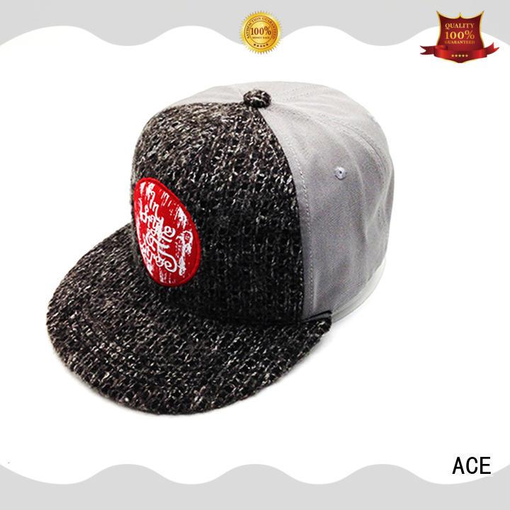 ACE plain snapback hat brands for wholesale for beauty