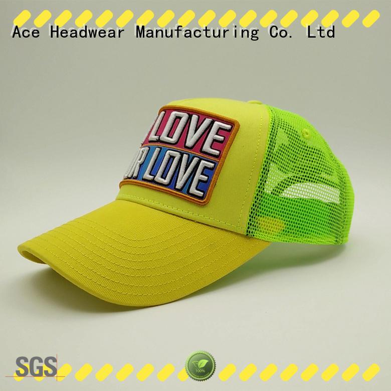 ACE on-sale trucker cap design customization for fashion