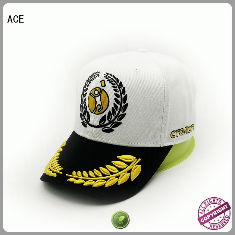 ACE odm embroidered baseball cap OEM for baseball fans