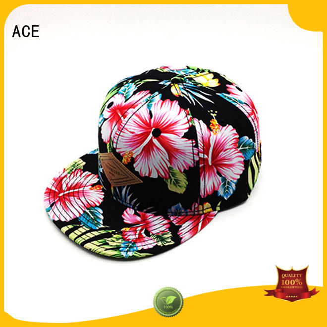 ACE floral best snapback caps supplier for beauty