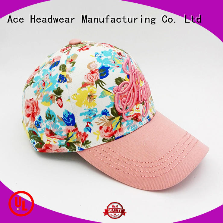 ACE pink sequin baseball cap supplier for beauty