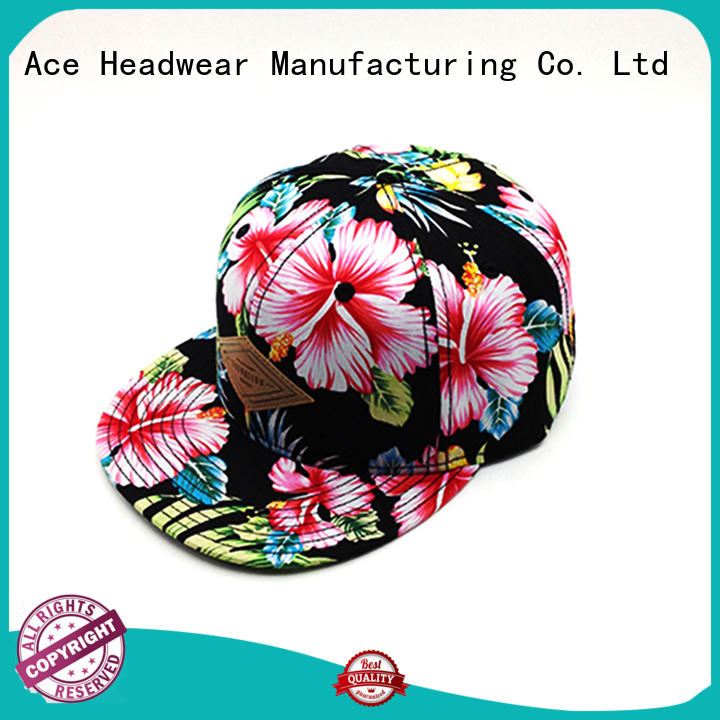 ACE durable grey snapback cap cotton for fashion