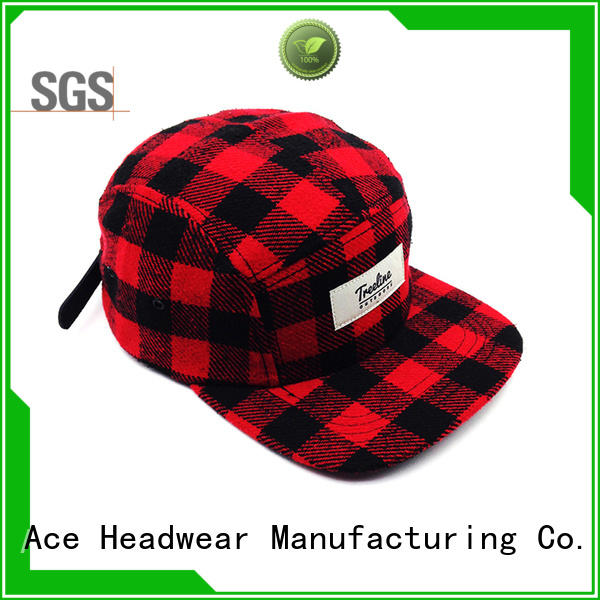 ACE Breathable blue snapback hat OEM for beauty