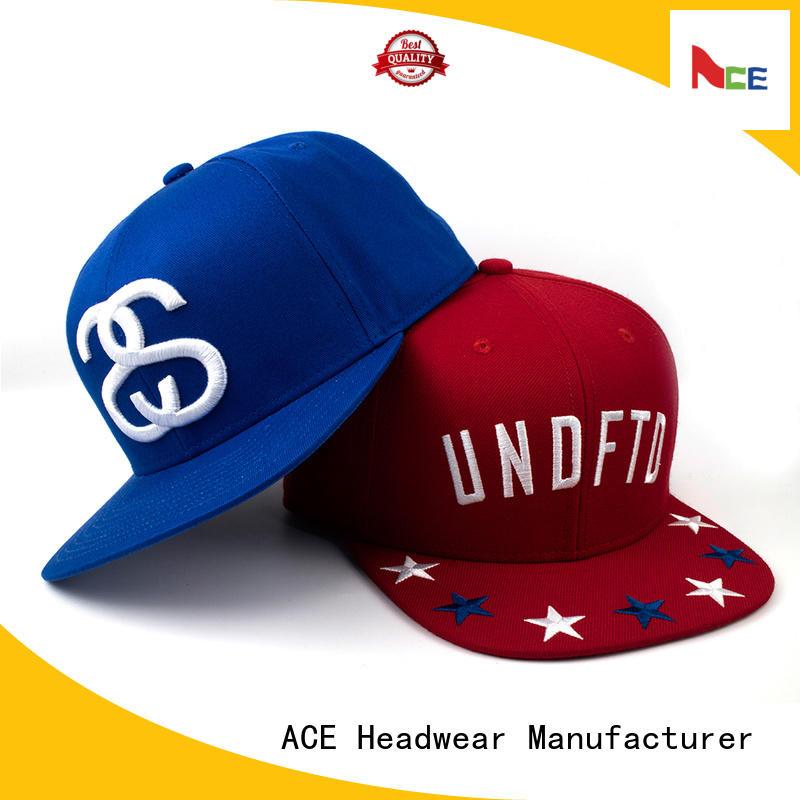 ACE color black snapback hat OEM for beauty