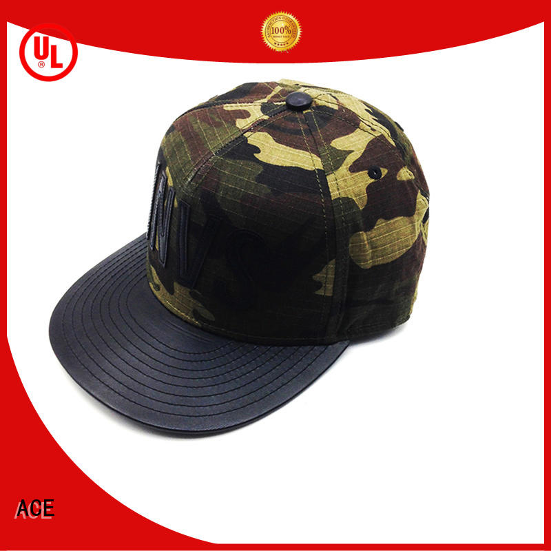 ACE high-quality wholesale snapback hats ODM for beauty