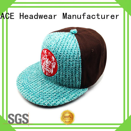 ACE grid personalised snapback caps OEM for beauty