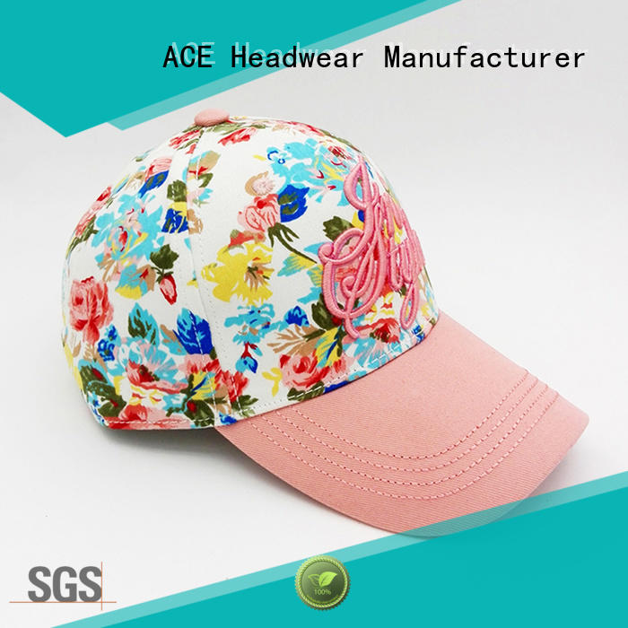 portable women's fashion baseball caps customization for beauty ACE