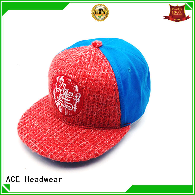 ACE pringting white snapback hat supplier for fashion