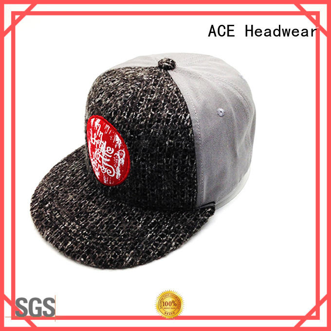 ACE Breathable blank snapback hats wholesale cool for beauty