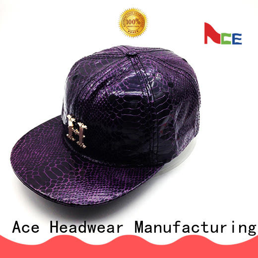 ACE hats personalised snapback caps OEM for fashion