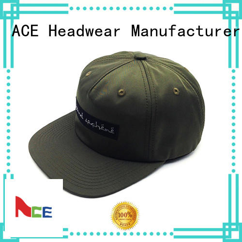 ACE yellow blue snapback hat free sample for fashion
