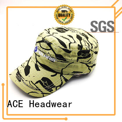 ACE Breathable types of military caps free sample for fashion