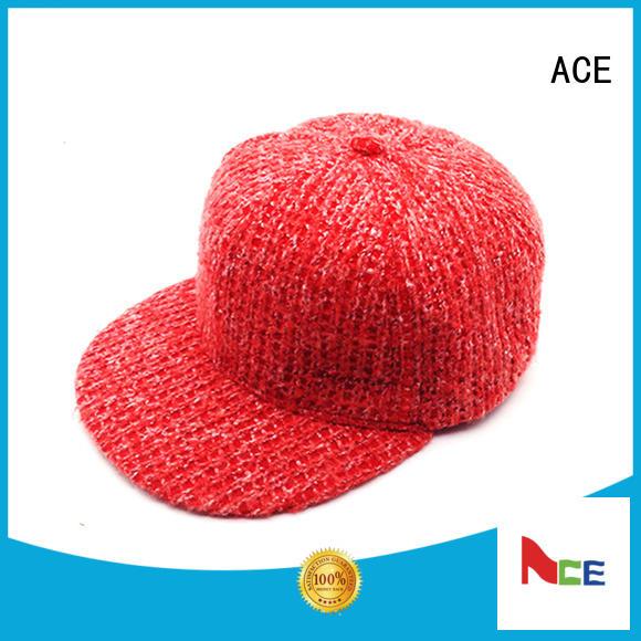 ACE funny white snapback cap customization for beauty