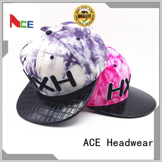 ACE durable youth snapback hats free sample for beauty