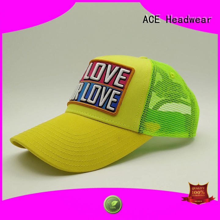 ACE quality trucker cap free sample for beauty