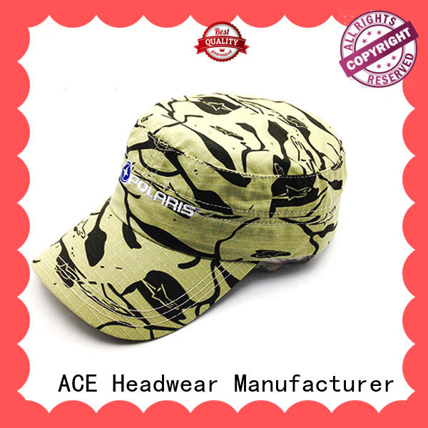 at discount military cap hat OEM for beauty ACE
