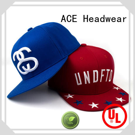 ACE daily snapback caps for men get quote for fashion