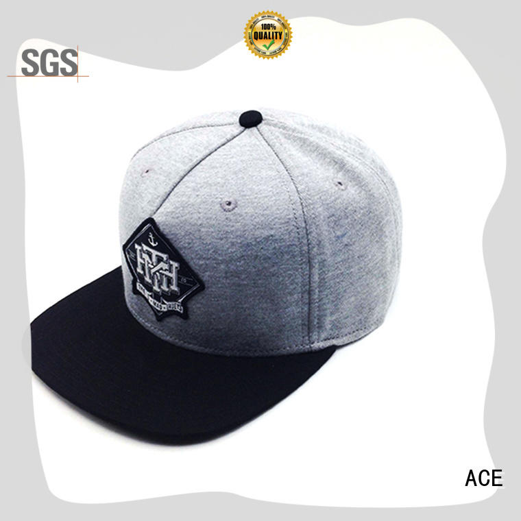 ACE red snapback hat brands bulk production for fashion