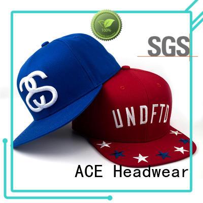 ACE womens custom snapback caps supplier for fashion