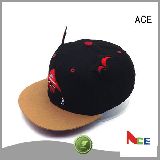 ACE solid mesh mesh snapback hats OEM for fashion