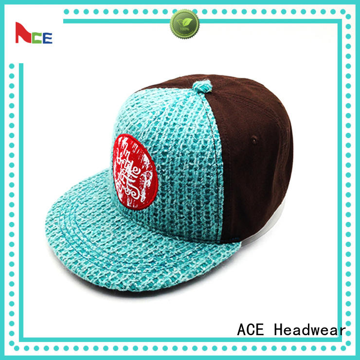 ACE high-quality design your own snapback hat metal for beauty