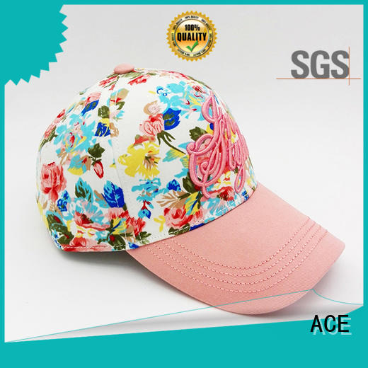 ACE flat baseball cap with embroidery ODM for beauty