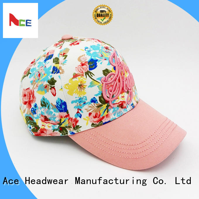 ACE adult embroidered baseball caps free sample for fashion