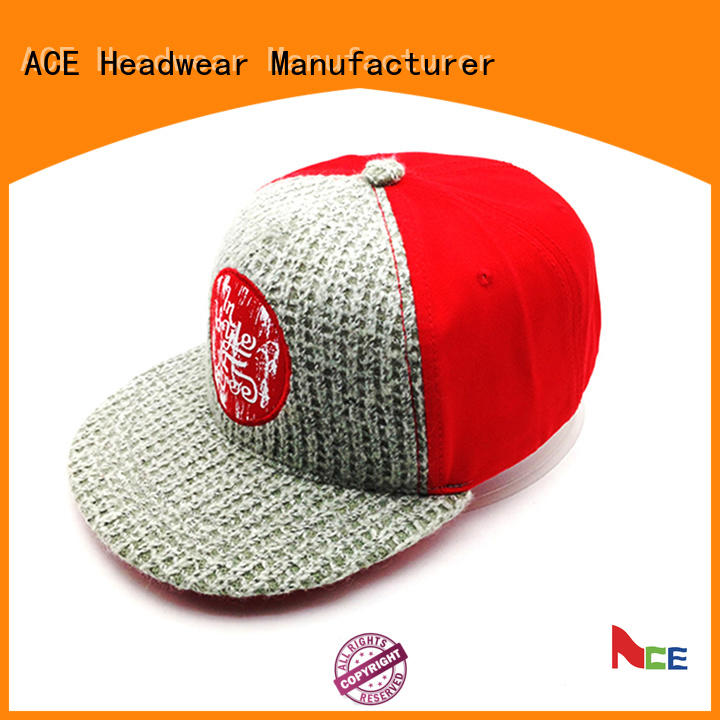 pu custom made snapback hats white for fashion ACE