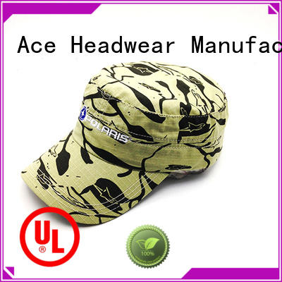 ACE yellow mens military cap get quote for beauty