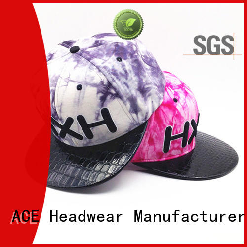 ACE durable black snapback cap supplier for beauty