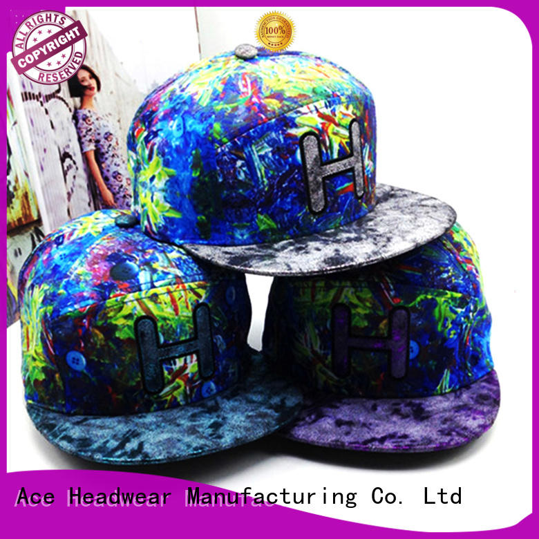 ACE durable custom snapback caps daily for beauty